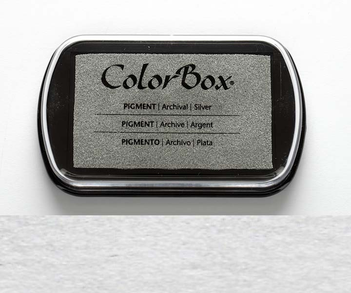 Color Box Stempelkissen silber
